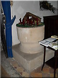 SU8518 : The font at St Mary, Bepton by Basher Eyre