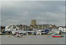 TQ2104 : Across the River Adur to Shoreham, West Sussex by Roger  Kidd