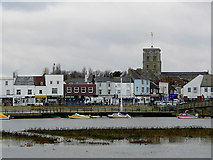 TQ2105 : Shoreham seen from Shoreham Beach, West Sussex by Roger  Kidd