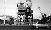 J3474 : Harbour cranes, Belfast by Albert Bridge