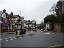SX9193 : Exeter : St David's Hill & Roundabout by Lewis Clarke