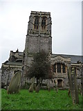 SX9193 : Exeter : St David's Church & Churchyard by Lewis Clarke