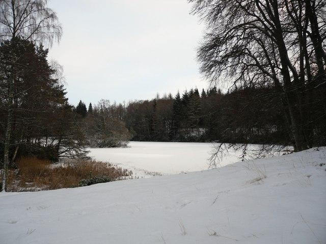 A frozen Lower Lake, Bowhill