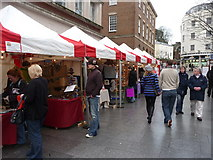 SX9292 : Exeter : High Street Stalls by Lewis Clarke