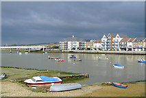 TQ2105 : River Adur at Shoreham, West Sussex by Roger  Kidd