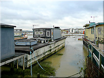 TQ2104 : Houseboats at Shoreham Beach, West Sussex by Roger  Kidd