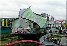 TQ2104 : Decorative houseboat, Shoreham Beach, West Sussex by Roger  Kidd
