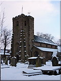 SD7336 : Parish Church of St Mary's & All Saints, Whalley, Tower by Alexander P Kapp
