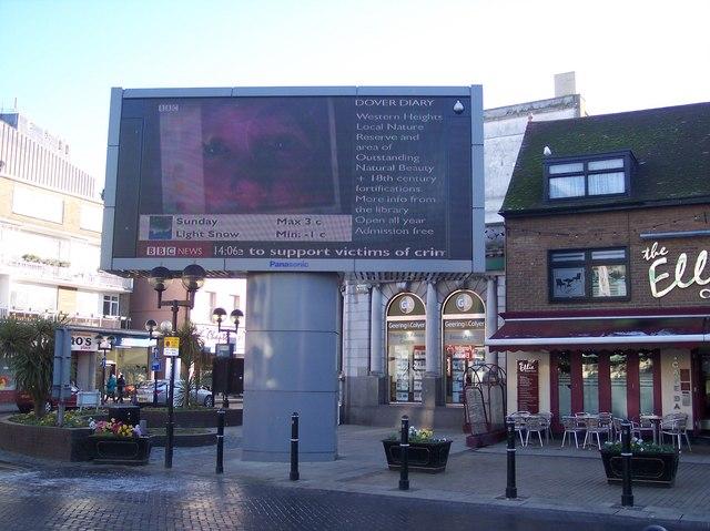 Large Screen TV in Dover Market Square
