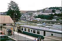 SX2553 : Looe station and harbour, 1979 by Robin Webster