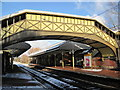 NZ3671 : Footbridge at Cullercoats Metro Station by Les Hull