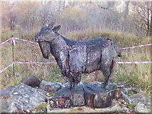 SK3455 : Goat Sculpture at Crich Tramway Museum, Derbyshire by Eamon Curry
