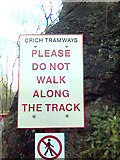 SK3455 : Sign At Crich Tramway Museum, Derbyshire by Eamon Curry