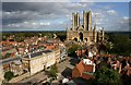 SK9771 : Lincoln Cathedral from Lincoln Castle by David P Howard