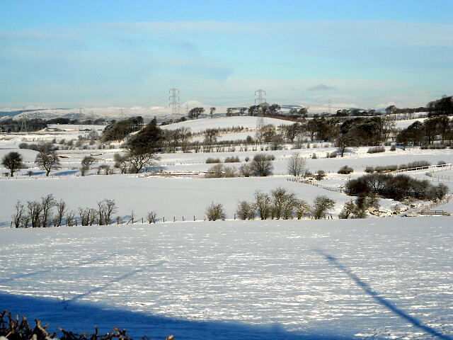 Snow Covered Fields Near Nethercraig