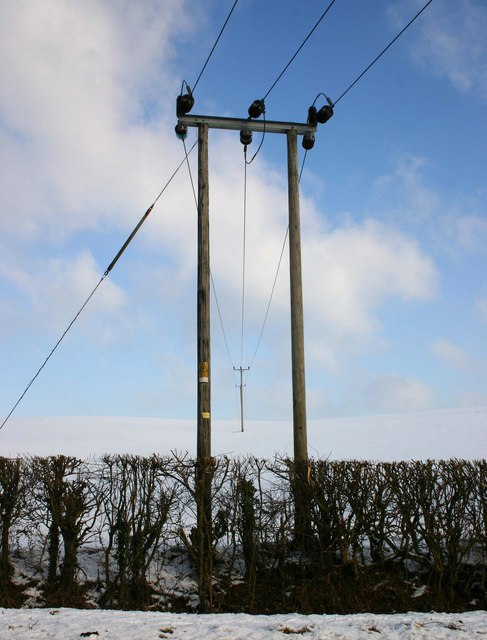 Power lines from Welsh Road