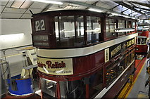 SK3455 : Tram 22 in the Tram Shed by Brian Chadwick
