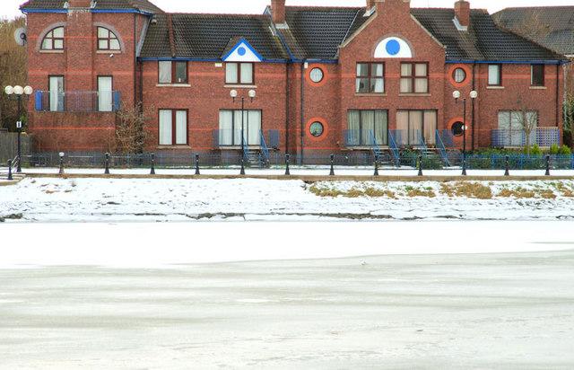 The frozen River Lagan, Belfast (5)