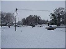 SS9612 : Tiverton : Grass & Snowy Scene by Lewis Clarke