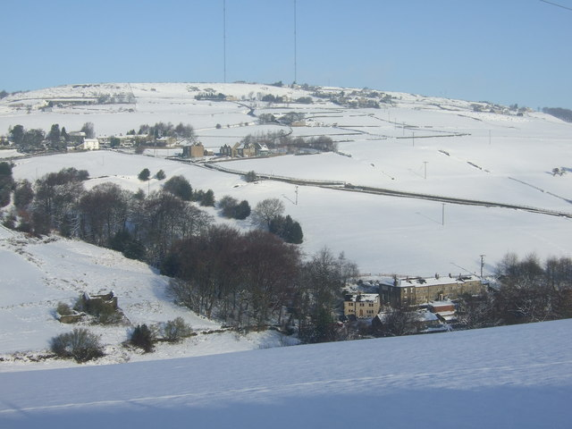 Clough House & Wilberlee,  Slaithwaite on Christmas Day 2009