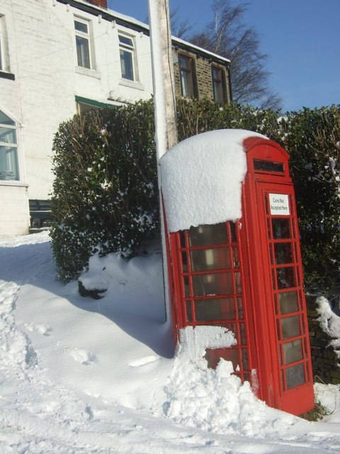 Telephone Box at Crow Trees, Colne Valley