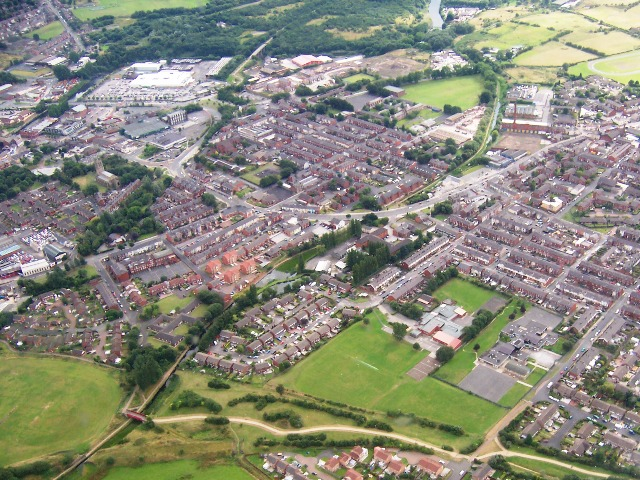 Aerial photograph of Radcliffe