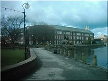 SK3536 : Derby City Council House and River Derwent. by Eamon Curry
