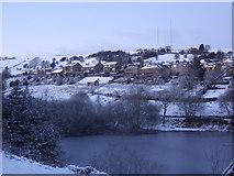 SE0714 : Hill Top & reservoir, Slaithwaite by Pamela Norrington