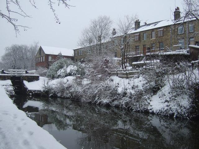 Huddersfield Narrow Canal, Marsden, Christmas Eve 2009