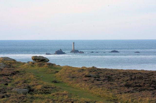 Carn Barra and Longships lighthouse