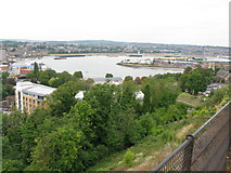 TQ7568 : The Medway and Chatham Ness from Fort Amherst by Nick Smith