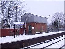 SU3521 : Convenient on Romsey railway station platform by peter clayton