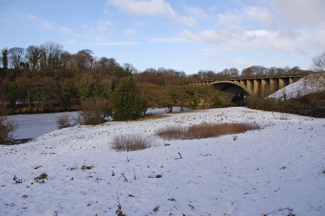 River Lune downstream of M6 bridge