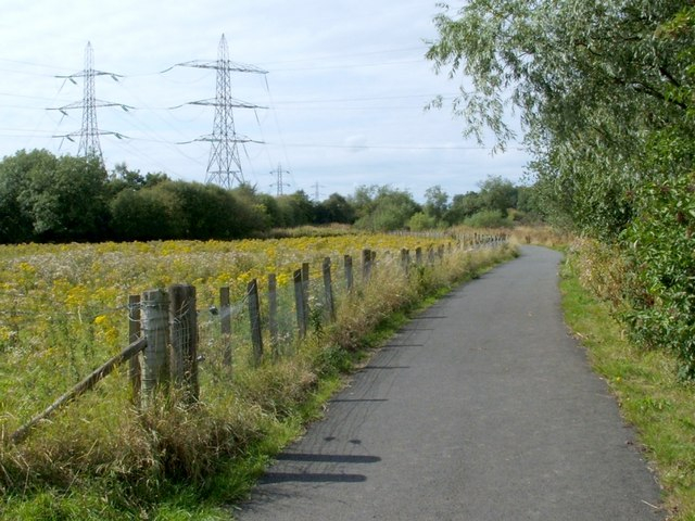 Cycle route beside the White Cart