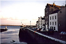 SC2667 : Castletown - Harbour entrance and The Quay by Joseph Mischyshyn