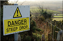 J4772 : Warning sign, Scrabo, Newtownards by Albert Bridge