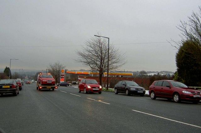 Shell Petrol Station Near Chellow C Steve Fareham