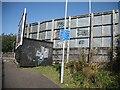 NS4238 : Advertising hoardings, Western Road by Richard Webb