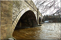 NT2540 : River Tweed back to normal, Peebles Bridge by Jim Barton