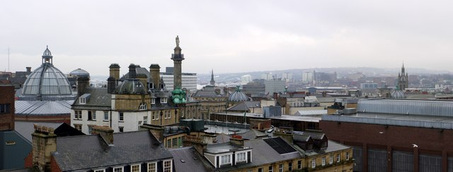 Panorama of roof tops around Grey's Monument