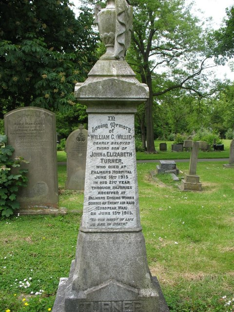Grave of William Grieves Turner in Jarrow Cemetery