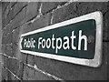 SO8894 : Lloyd Farm Public Footpath Sign by karl