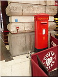 TQ3179 : London: postbox № SE1 39, Waterloo Station by Chris Downer