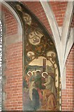 TQ2284 : St Andrew, High Road, Willesden, London NW10 - Wall paintings by John Salmon