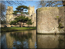 ST5545 : Wells Cathedral and Bishop's Palace by Philip Halling