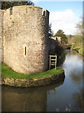 ST5545 : Corner tower, Bishop's Palace, Wells by Philip Halling