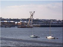 TQ7568 : Crane ship in the River Medway by David Anstiss