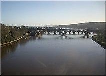 NT9953 : Downstream River Tweed by Stanley Howe