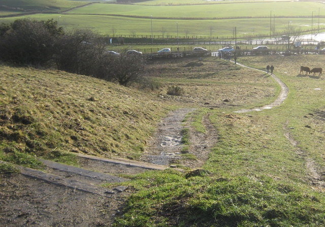Footpath down from Penshaw Hill near Sunderland