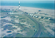 TR0916 : Dungeness new lighthouse taken from old lighthouse in 1968 by John Baker